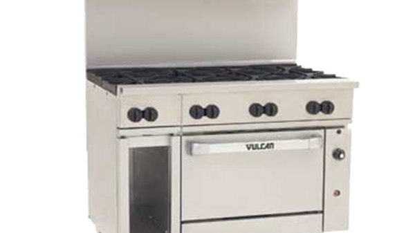 "Vulcan 48S-8BN Endurance Natural Gas 8 Burner 48"" Range with Standard Oven and 1"