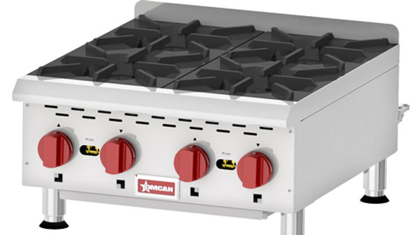 Gas Hot Plate 4 Burner 24""