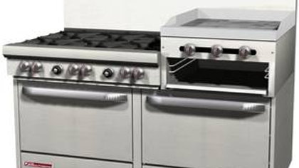 "S60DD-2RR Southbend S-Series 6 Burner 24"" Raised Griddle 2 std Ovens"
