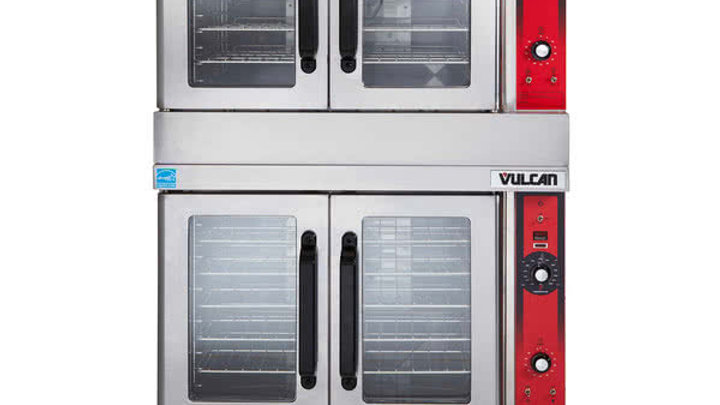 Vulcan VC55GD Gas Double Deck Full Size Convection Oven - 100,000 BTU
