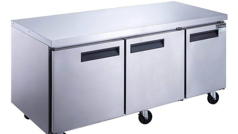 DUC72F 3-Door Undercounter Commercial Freezer in Stainless Steel