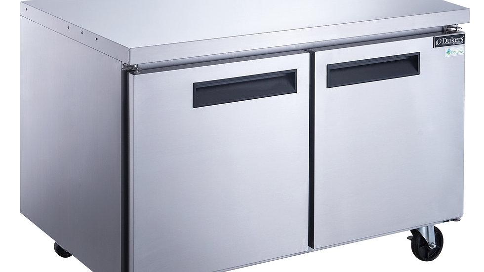 DUC60R 2-Door Undercounter Commercial Refrigerator in Stainless Steel