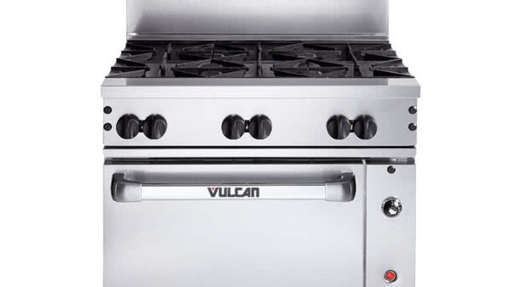 "Vulcan 36C-6BN Endurance 6 Burner 36"" Nat or LP Gas Range with Convection Oven"