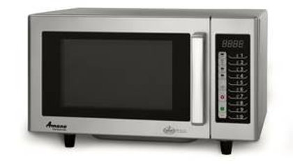 Amana RMS10TS 1000w Commercial Microwave Oven S/s Interior Low Volume