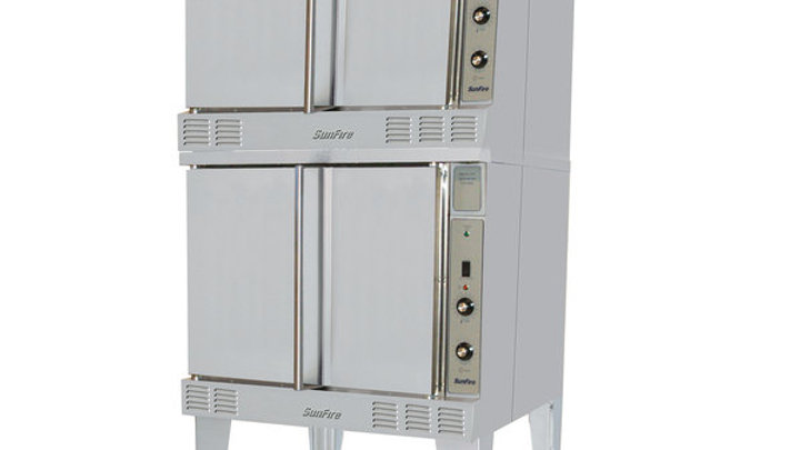 SunFire SCO-GS-20-ESS NAT Natural Gas Double Deck Full Size Convection Oven