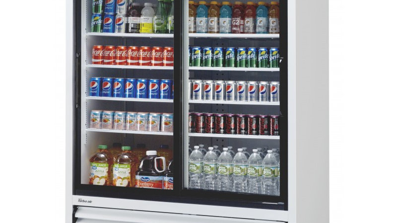 Turbo Air TGM-48R (B)-N Slide Door Glass Refrigerator