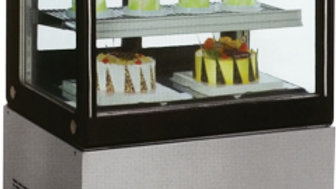 """36"""" Cubed Glass Floor Cold Bakery Refrigerated Case"""