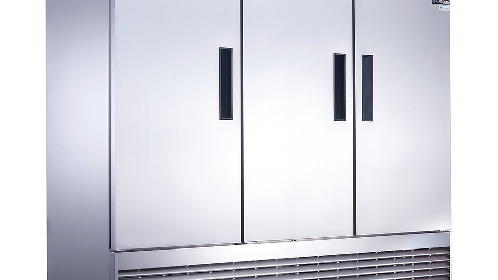 D83R 3-Door Commercial Refrigerator in Stainless Steel
