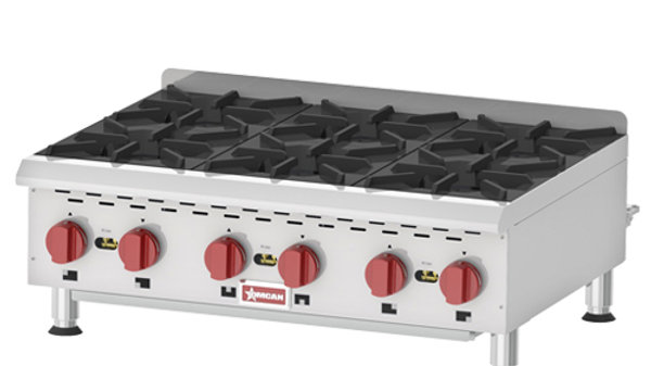 Gas Hot Plate 6 Burners 36""