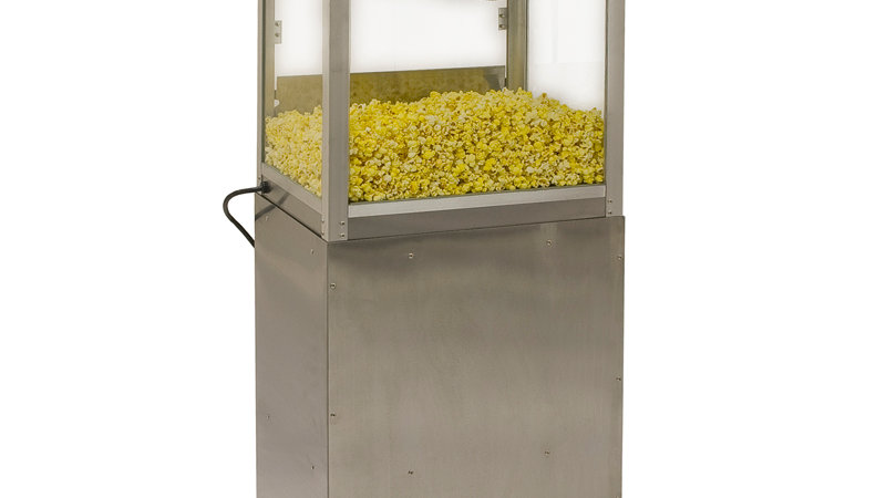 Silver Screen Popcorn Machine With SS Stand