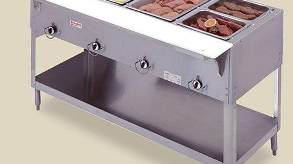 "Duke 304 - Aerohot Gas Hot Food Table - Stationary 4 Wells, 58-3/8"" W"