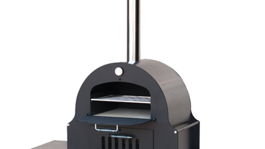 """Double Chamber Wood Burning Oven 34""""W x 19""""D x 92""""H, steel interior"""