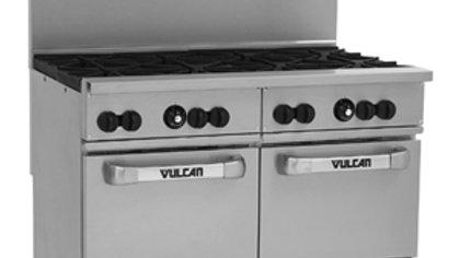 "Vulcan 48SS-8BP Endurance Liquid Propane 8 Burner 48"" Range with 2 Standard Oven"