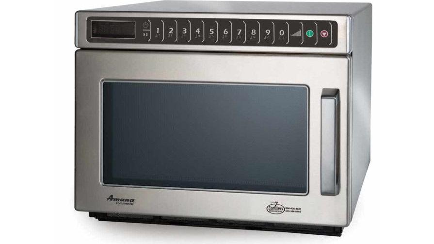 Amana HDC12A2 1,200 Watt Commercial Microwave Oven, Heavy Volume