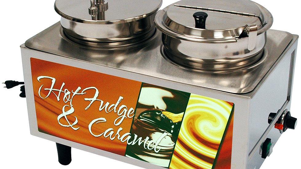 Benchmark-USA 51073H Hot Fudge/Caramel Warmer 1 Pump, 1 Lid/Ladle