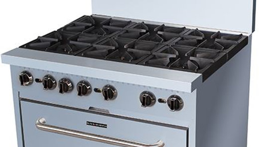 Black Diamond BDGR-36/NG 36in Gas Range w/6 Burners and Oven NG