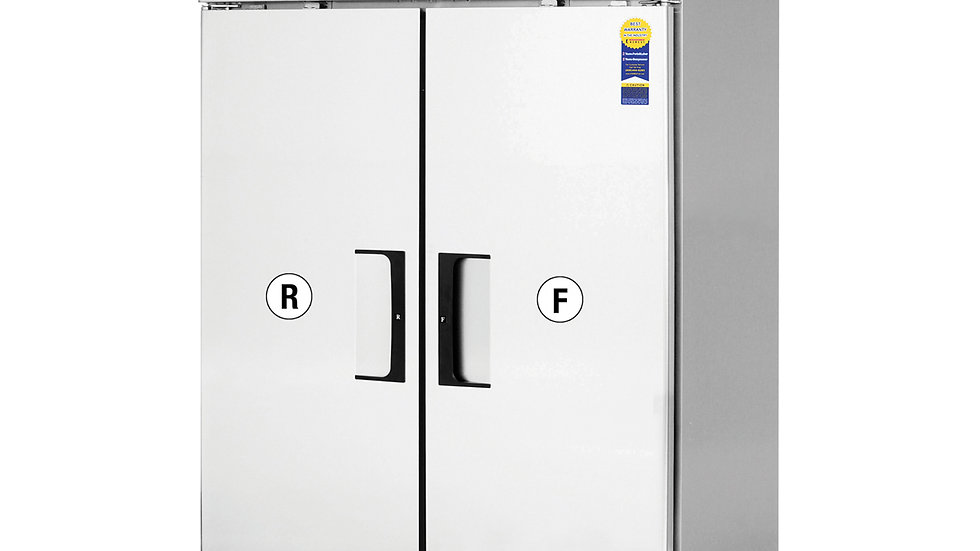 Everest ESRF2A Reach-In Refrigerator/Freezer Combo, two-section