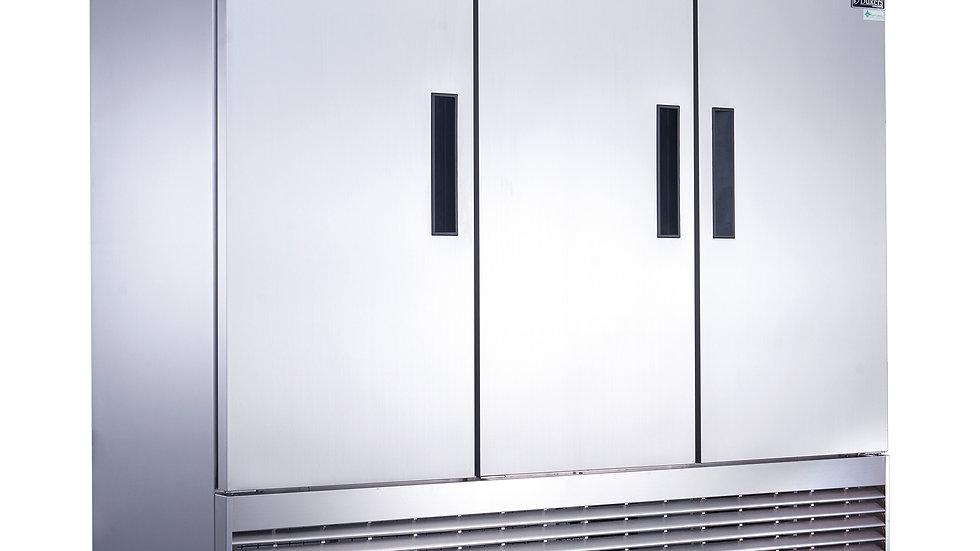 D83RF 3-Door Dual Zone Refrigerator & Freezer in Stainless Steel