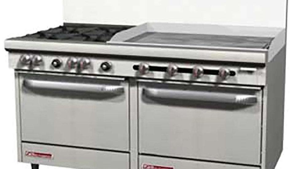 """S60DD-3G Southbend S-Series 4 Burner 36"""" Griddle 2 std Ovens"""