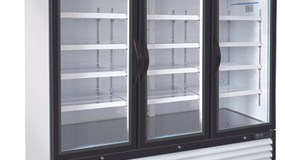 GR72-HC 3 Door Glass Door Freezer