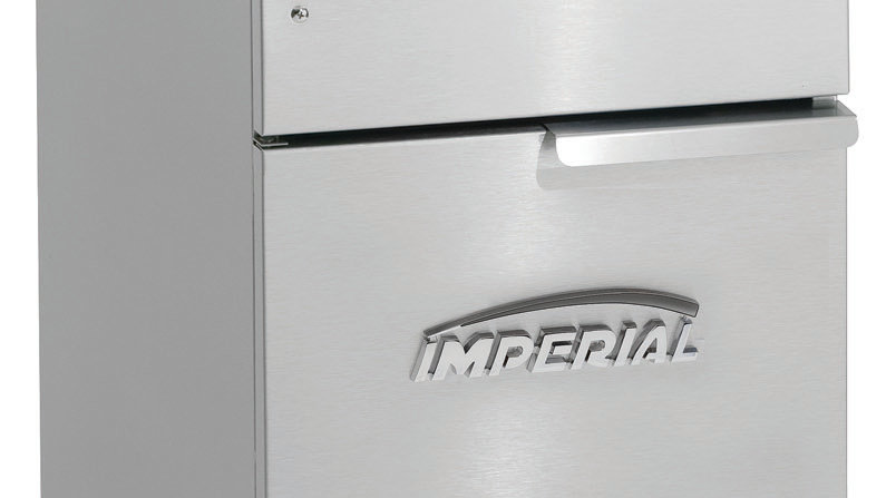 Imperial Range IFS-40 40lb Gas Floor Model Deep Fat Fryer - 105,000btu