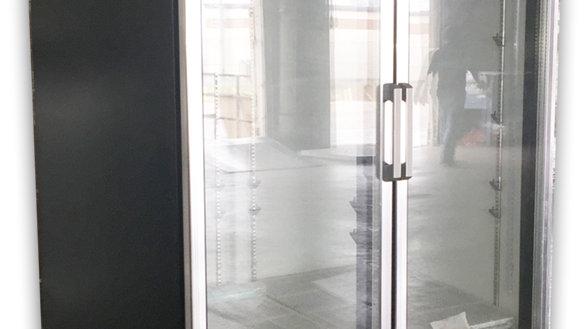 Upright Pull Glass 2 Door 8 Shelf Display Refrigerator