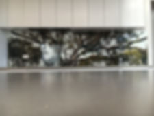 kitchen splashback with imagery