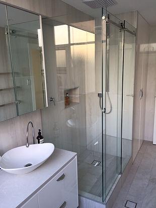 frameless glass shower screen slider
