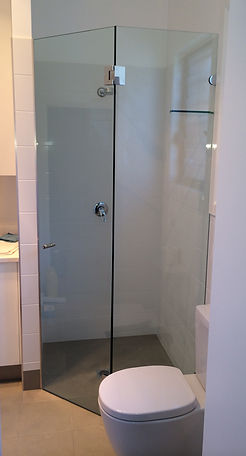frameless glass shower screen - 135 degree