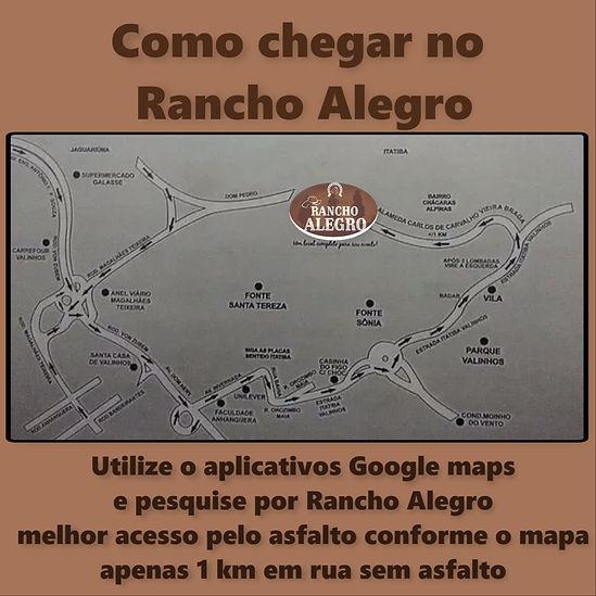Localização do Rancho Alegro, Mapa Rancho Alegro