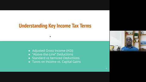 Understaning Key Tax Terms: Adjusted Gross Income, Taxable Income, Standard Deductions vs. Itemized Deductions, Marginal  and Effective Tax Rate