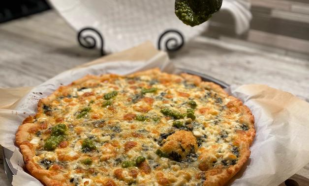 Gluten Free Pesto Pizza