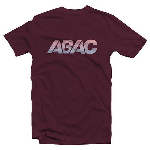 ABAC gradient camo logo tee [maroon]