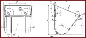 Чертёж ковша норийного полимерного КНп-20