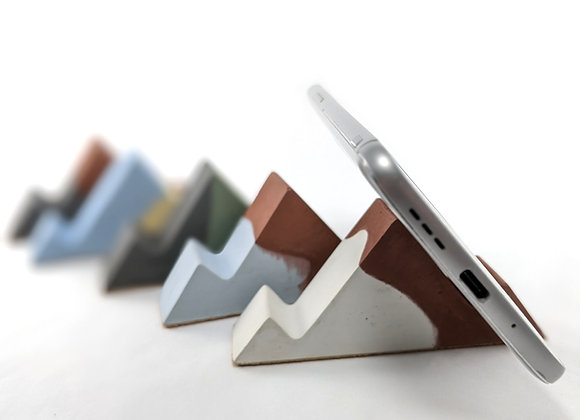 Bicolor mountain shaped cell phone holder