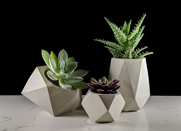 Geometric succulent planter set of 3