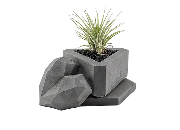 Triangle Concrete succulent planter