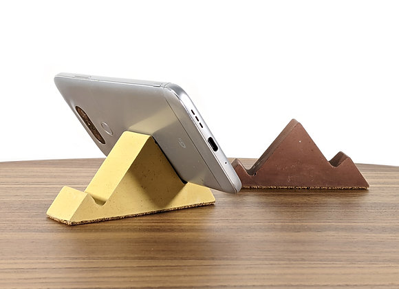 Concrete mountain shaped cellphone holder