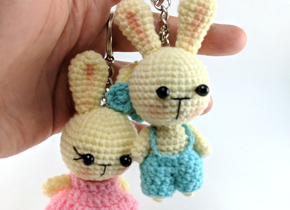 Handmade crochet dolls, Little bunny key chain dolls