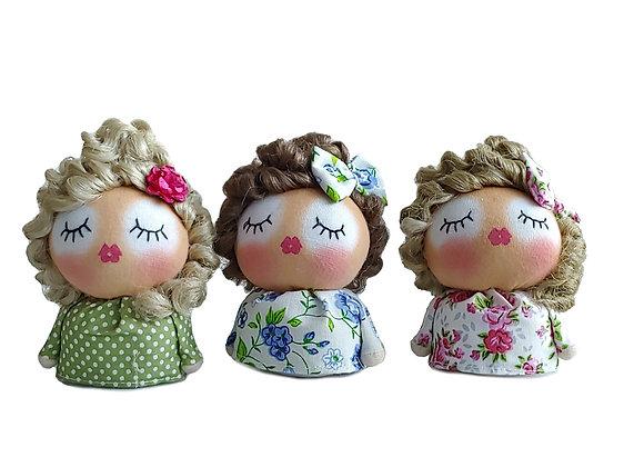 Handmade fabric doll, Textile doll