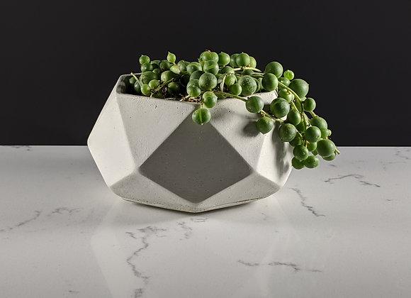 Medium hexagon concrete pot