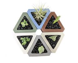 Concrete planter sets