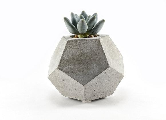 Dodecahedron concrete succulent planter