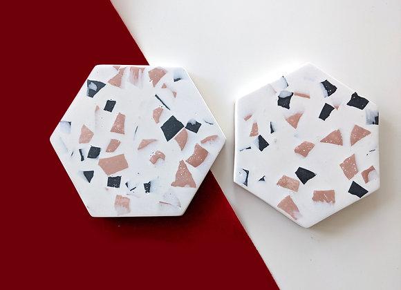 Terrazzo coaster set made of Jesmonite
