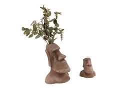 Moai planter and statue
