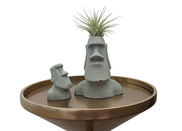 Moai planter and statue set