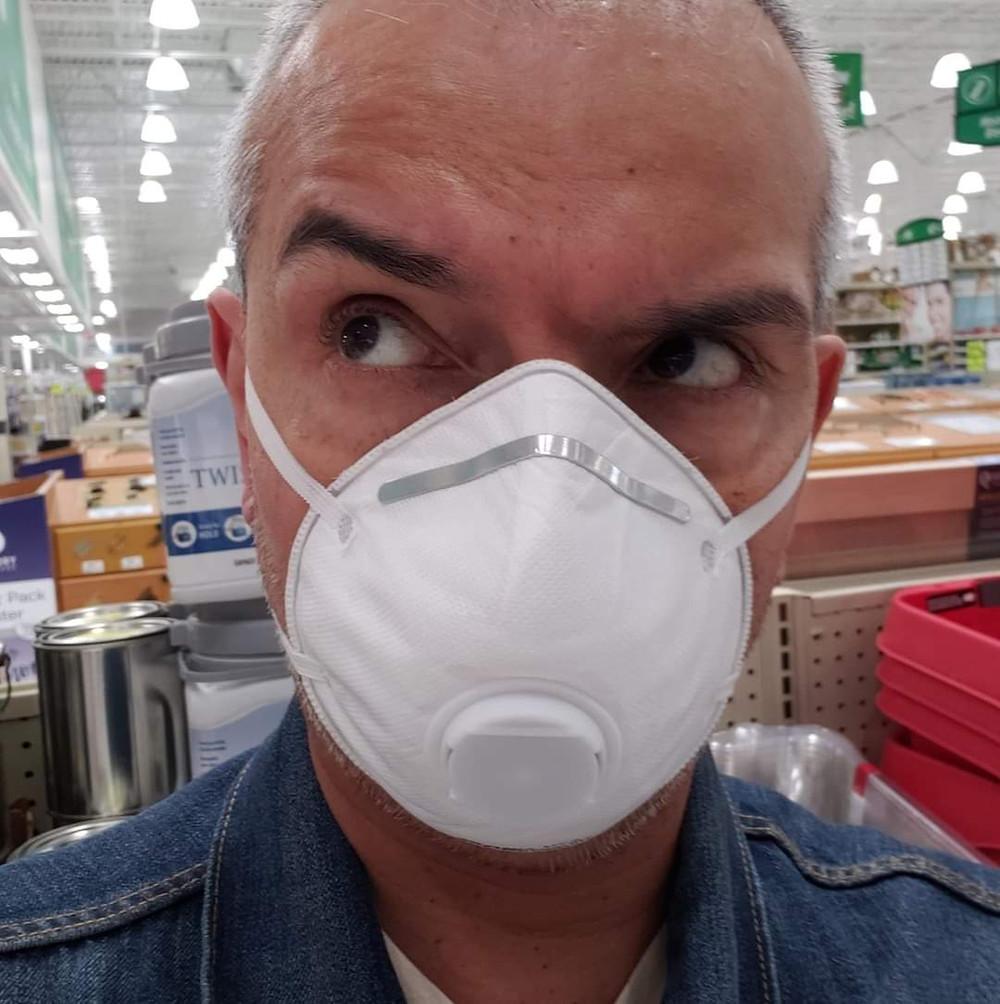 Shopping at Menards wearing my mask