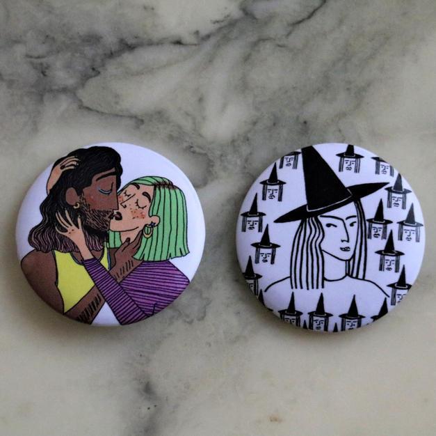Badges La queerness et Sorcières