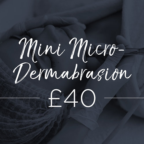 Mini Diamond Dermabrasion