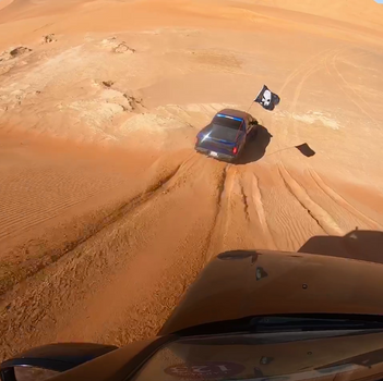 Firm sand driving